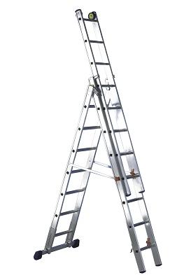 Foto de Escalera transformable profesional de tres tramos