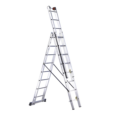 Foto de Escalera de aluminio profesional de 3 tramos