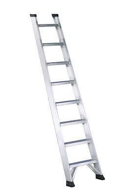 Foto de Escalera de aluminio de un tramo de peldaño ancho