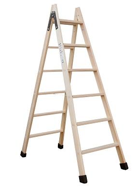 Foto de Escalera de tijera de madera