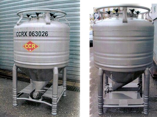 Foto de Alquiler de contenedores con cono de vaciado asimétrico