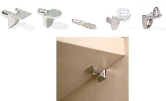 Soportes de estantes para muebles soportes 21 madera - Soporte para baldas ...