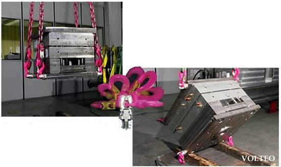 Foto de Elevación, manipulación y volteo de moldes de inyección de plástico