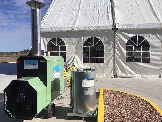 Foto de Generador aire caliente gas-oil ideal para industria, invernaderos y eventos