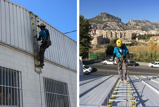 Foto de Escalera de seguridad flexible y plegable para tejados, salvamento, embalses, canales y montaña