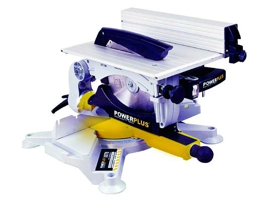 Sierra ingletadora de mesa superior pow x078 madera for Ingletadora con mesa superior