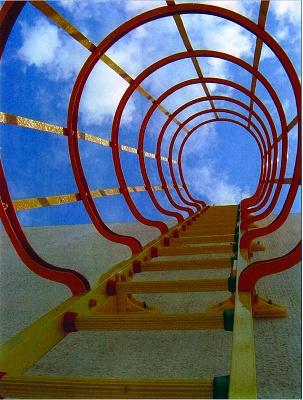 Foto de Escalera con jaula de seguridad