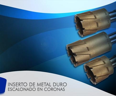 Foto de Inserto de metal duro escalonado en coronas