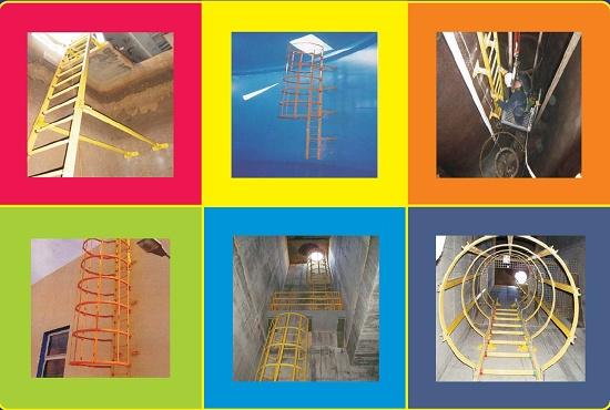 Foto de Escalera de fibra de vidrio