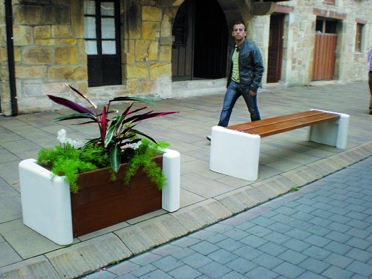 Bancos y jardineras serie niwa equipamiento urbano - Jardineras de cemento ...