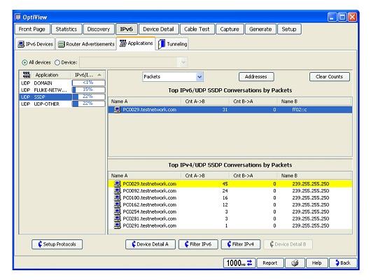 Foto de Analizador portátil IPv6