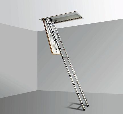 Foto de Escalera escamoteable ajustable
