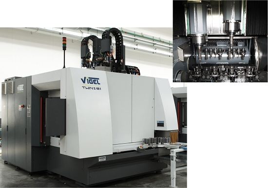 Foto de Centro de mecanizado vertical de 2 husillos