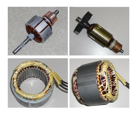 Foto de Estatores y rotores bobinados