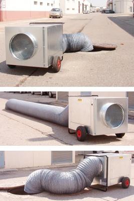 Foto de Cabinas de extracción de gases y malos olores para espacios confinados