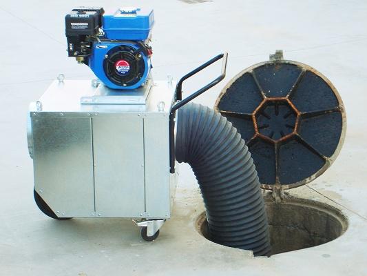 Foto de Equipo de ventilación portátil autónomo para espacios confinados