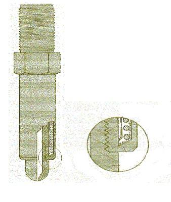 Foto de Boquillas con resistencia y termopar integrados
