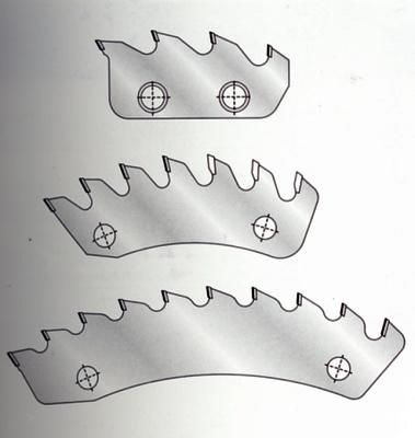 Foto de Segmentos de triturador PCD