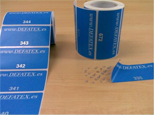 Foto de Etiquetas adhesivas de seguridad
