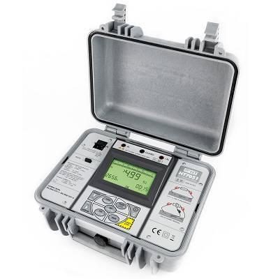 Foto de Medidor de aislamiento profesional con tensión de prueba programable hasta 5 kV