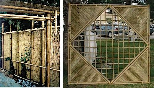 Foto de Cañas y celosía de bambú