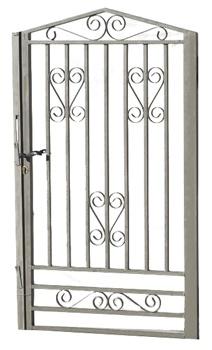 Puerta de hierro carlit materiales para la construcci n for Modelos de puertas para casas de hierro