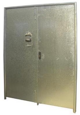 Puerta galvanizada doble materiales para la construcci n for Puerta galvanizada