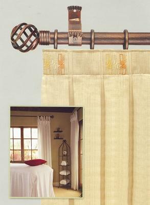 Barras de cortina de forja chyc ferreter a barras de - Barra de madera para cortinas ...