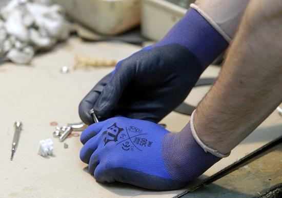 Foto de Guantes de nylon azul