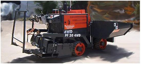 Foto de Miniextendedora de asfalto
