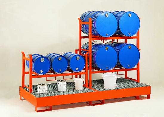 Foto de Soportes apilables para barriles para cubeto