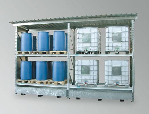 Foto de Estanterías para el almacenamiento exterior de palets