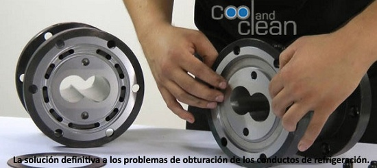 Foto de Sistema para la limpieza de conductos de refrigeración