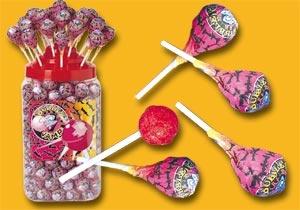Foto de Caramelos con palo y chicle
