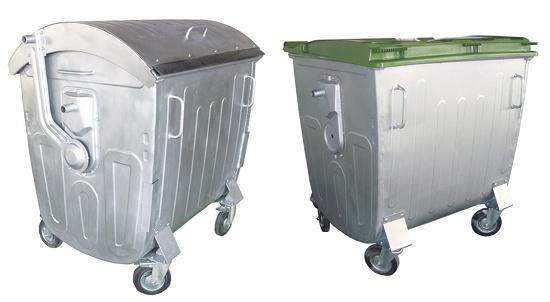 Foto de Contenedores metálicos para residuos de 1.100 litros