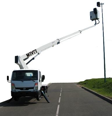Foto de Plataforma elevadora sobre camión