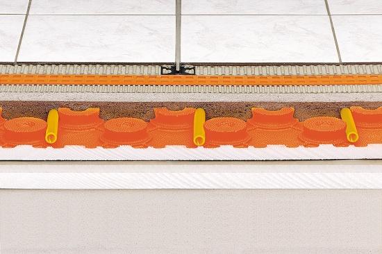 Foto de Pavimento de cerámica climatizado