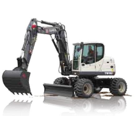 Foto de Excavadoras compactas sobre ruedas