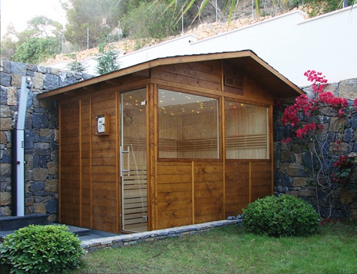 saunas para exterior o jard n inbeca kit dom stica piscinas spas y saunas saunas para. Black Bedroom Furniture Sets. Home Design Ideas