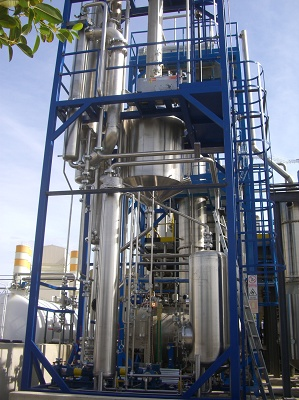 Foto de Sistema de destilación de biodiésel