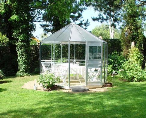invernadero de cristal para jardin