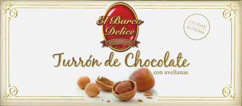 Foto de Turrones de chocolate con avellanas
