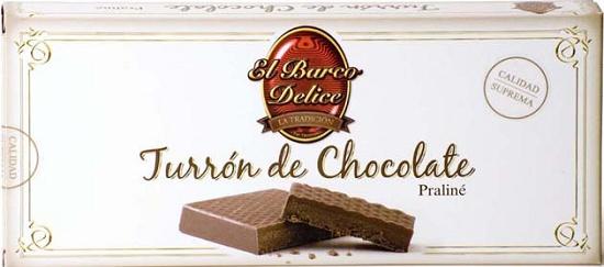 Foto de Turrones de chocolate praliné