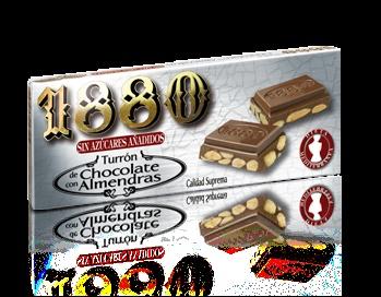 Foto de Turrones de chocolate con almendras