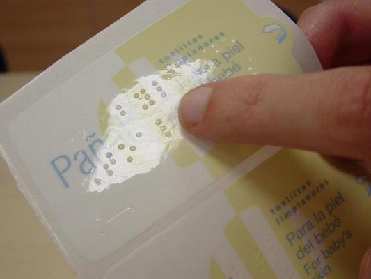 Foto de Etiquetas Braille