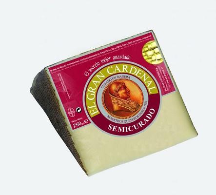 Foto de Cuña de mezcla de queso semicurado