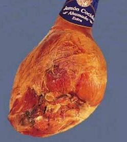 Foto de Jamón cocido extra ahumado con hueso