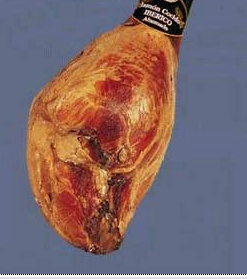 Foto de Jamón cocido ibérico ahumado con hueso