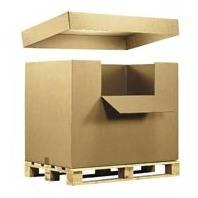 Foto de Cajas contenedor de cartón con faldón y tapa