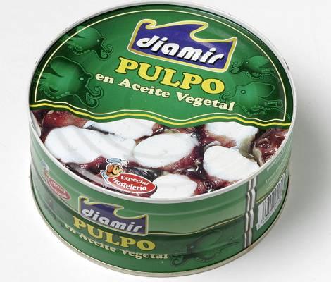 Foto de Pulpo en rodajas con aceite vegetal